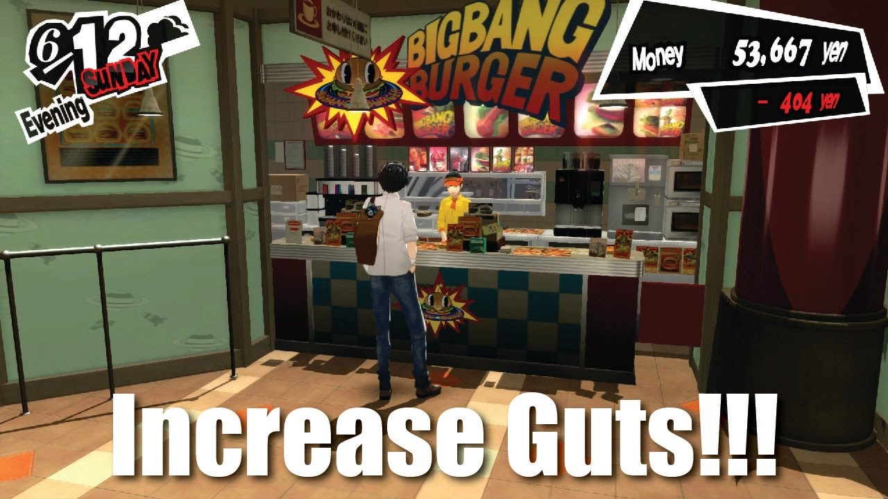 persona 5 how to get guts