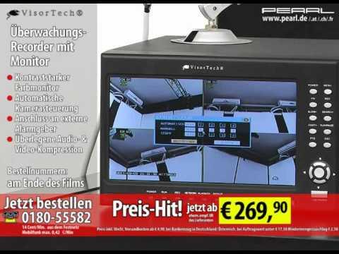 VisorTech Digitaler Überwachungs-Recorder DVR-8004 H.264 mit Monitor
