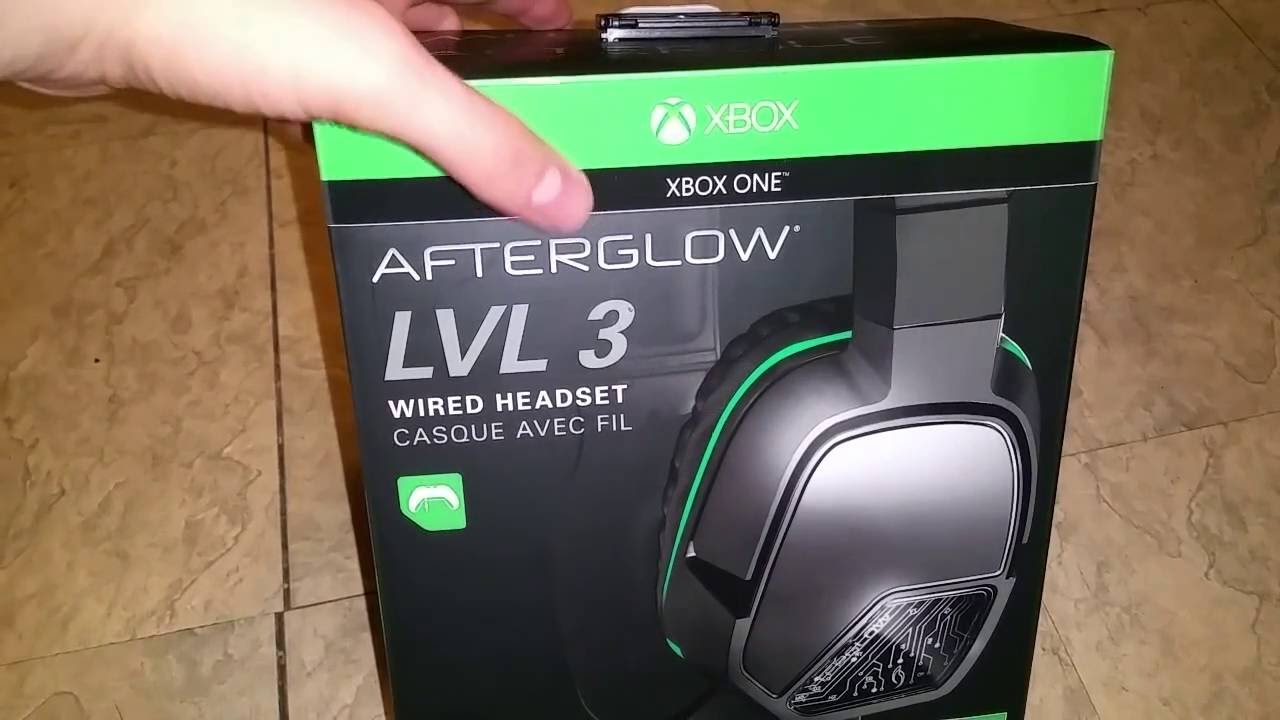 Afterglow LVL 3 wired headset for Xbox One and PC unboxing and quick ...