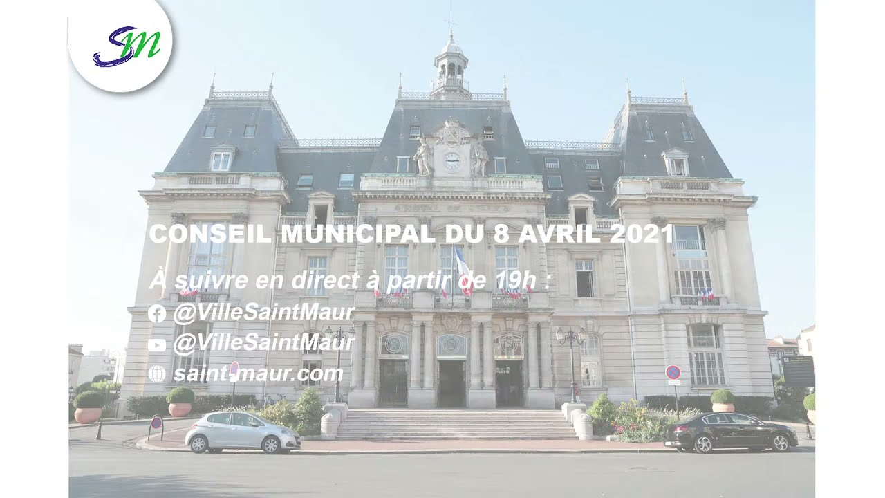 Diffusion en direct du Conseil municipal du 8 Avril 2021