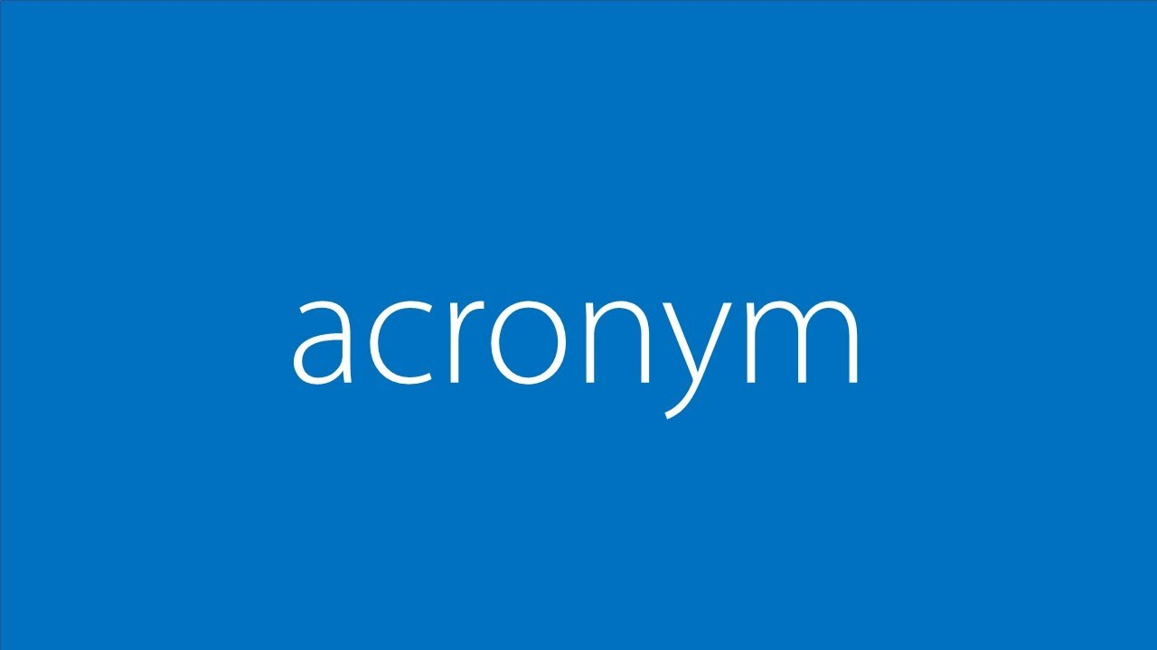Word Of The Day Acronym Youtube