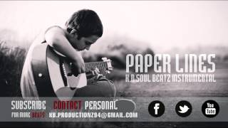 "Sad Guitar Rap/HipHop (Old School) Instrumental Beat 2014 ""Paper Lines"""