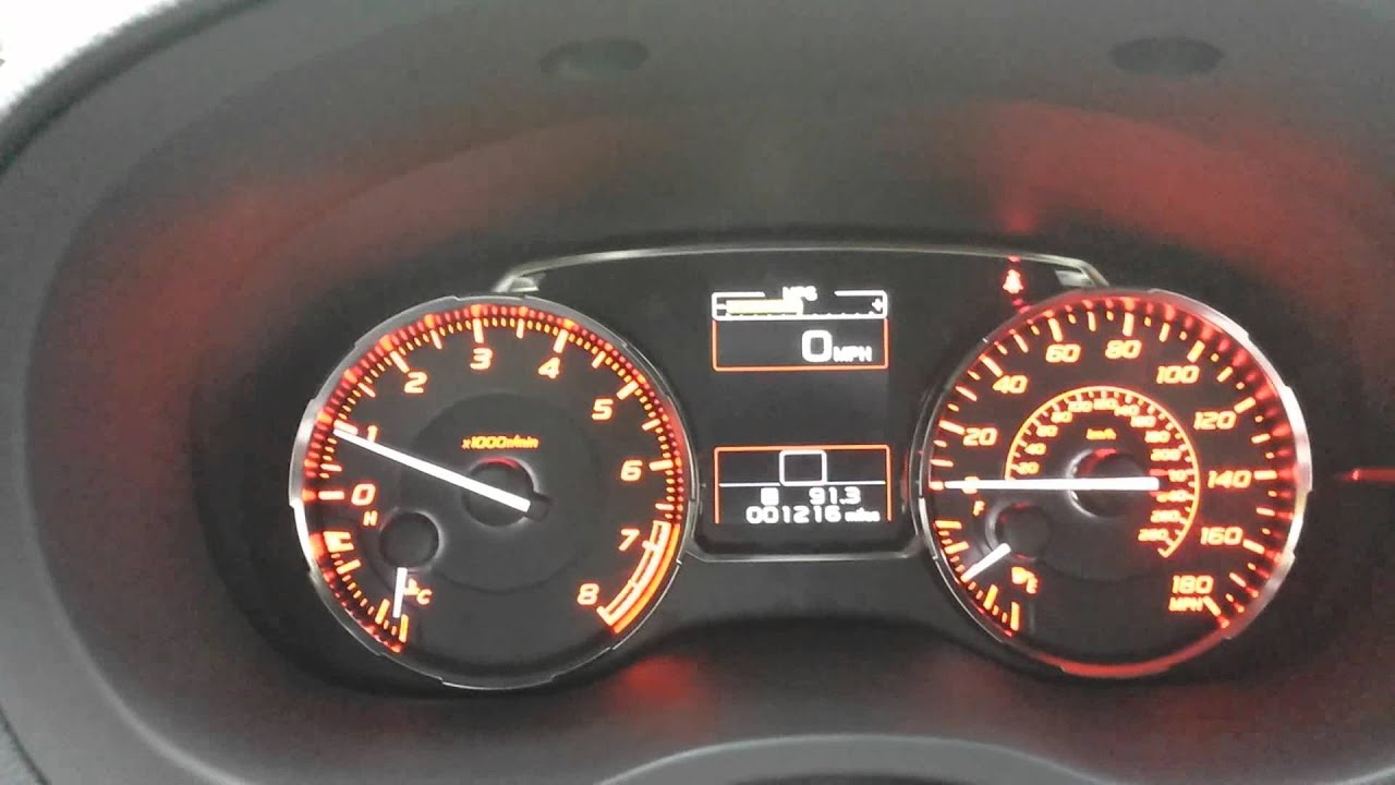 If You Reset The Wrx Odometer Mpg Youtube