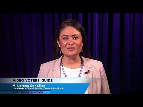 Video Voters' Guide - City of Seattle Council Position No. 9: M. Lorena González