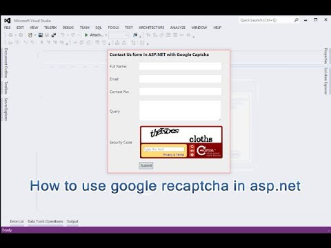 how to use google recaptcha in asp net  | DotNet - awesome
