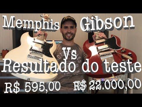 RESULTADO - Memphis SG de R$ 595,00 vs Gibson SG de R$ 22.000,00