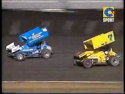 2001 King of the Wings Sprintcar Feature Race - Perth Motorplex. - dirt track racing video image
