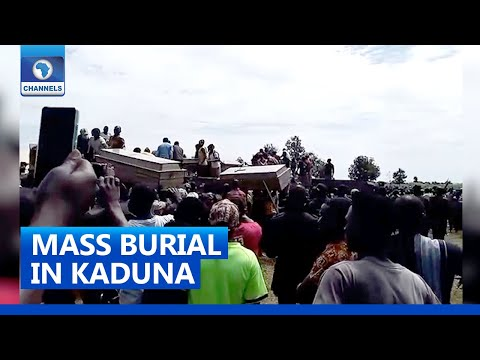 Tears, Anguish As 38 Victims Killed By Bandits In Kaduna Community Are Buried