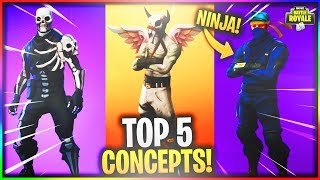 SKULL TROOPER V2 COMING THIS HALLOWEEN?! (TOP 5 BEST FORTNITE SKIN CONCEPTS!) #TAPXRC