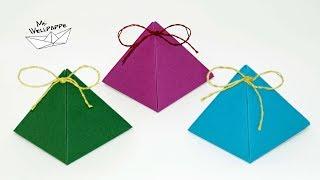 Geschenkbox Pyramide basteln zu Weihnachten - Adventskalender basteln