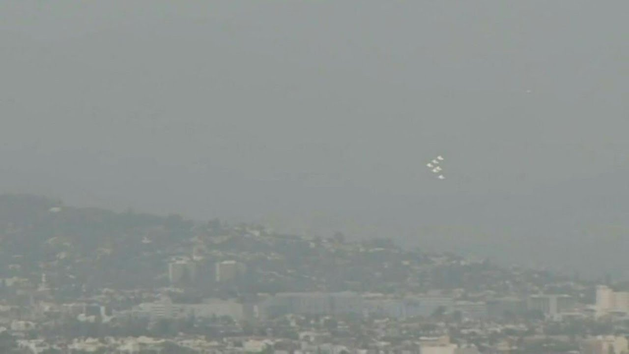 WATCH Today: US Air Force Thunderbirds flying over Los Angeles ...