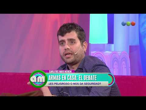 Tenencia de armas y debate, habla Carlitos Nair - AM
