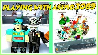 ROBLOX PLAYING WITH THE CREATOR OF THE JAILBREAK! [asimo3089]