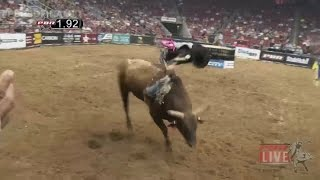 Joao Ricardo Vieira wins Round 2 with 87.25 points on Chantilly Lace (PBR)