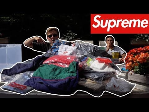 BIGGEST SUPREME SS18 UNBOXING EVER! | OVER $6,000 VALUE OF MOST HYPED ITEMS!