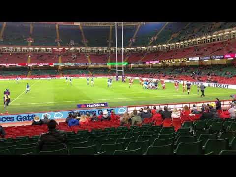 iphone 8 Plus footage of Wales Women vs Italy Women