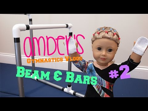 Amber's Gymnastics Beam & Bars Routines AGSM American Girl Doll Stop Motion | White Fox Stopmotion