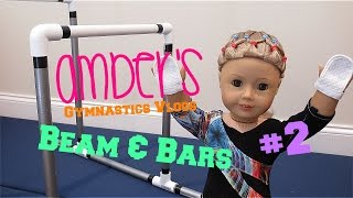 Gambar cover Amber's Gymnastics Beam & Bars routines AGSM american girl doll stop motion | White Fox Stopmotion