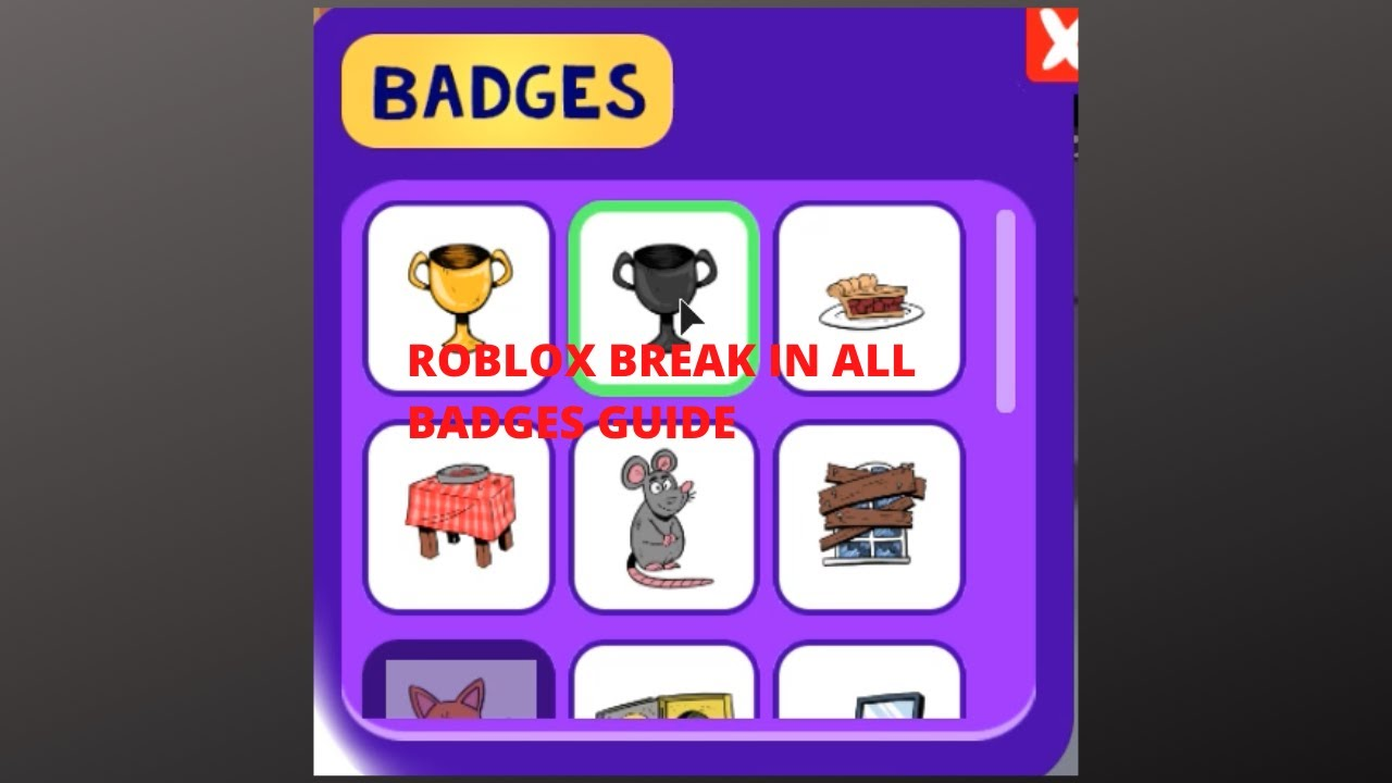 Roblox Break In All Badges Guide Youtube
