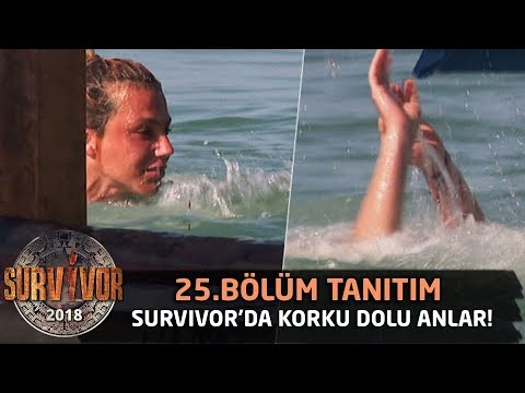 Survivor'da korku dolu anlar! Funda sudan çıkamadı  25.Bölüm Tanıtımı  Survivor 2018