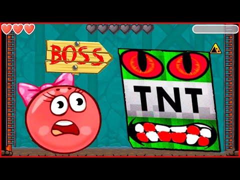 Новый Мир - майнкрафт в игре красный шарик.Игра Red Ball 4 от Котика Браяна про шар