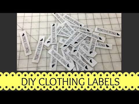 Clothing Labels DIY- Cheap And Easy Way To Make Your Own Clothing Labels