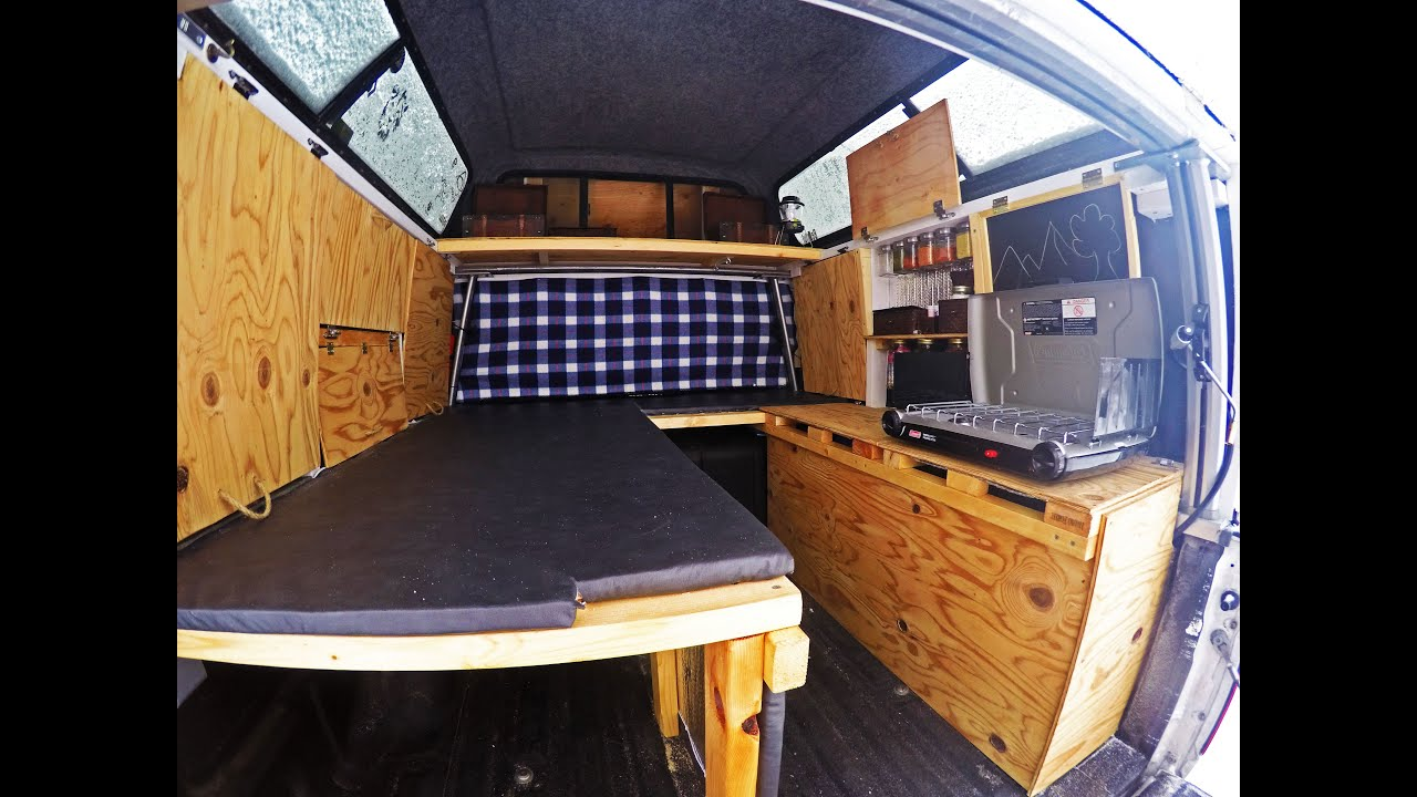 medium resolution of how to make a cheap homemade truck camper start to finish diy