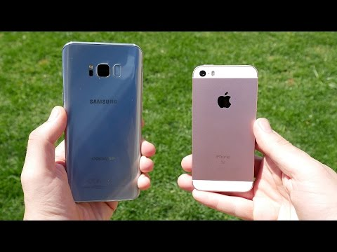 Thumbnail: Galaxy S8 Plus vs iPhone SE! - Speed Test