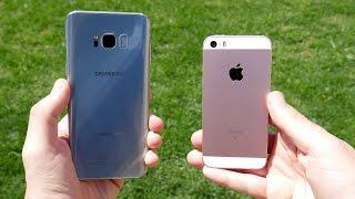 Galaxy S8 Plus vs iPhone SE! - Speed Test