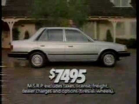 1986 mazda 323 commercial James Garner - YouTube