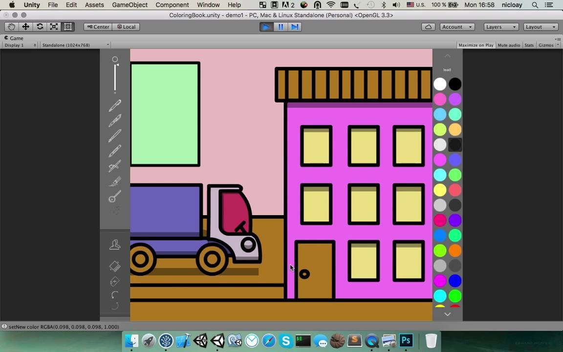 Released] PaintCraft (Multiplatform coloring book & drawing app
