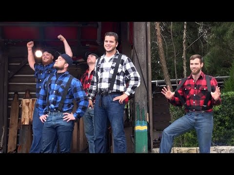 CANADIAN LUMBERJACKS Show - Log Rolling - Epcot Canada - Walt Disney World Florida