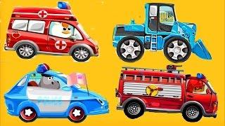 Мультики про Машинки.🚒#Полицейская машина Пожарная Скорая Помощь Мультфильмы для детей Новинки 2017