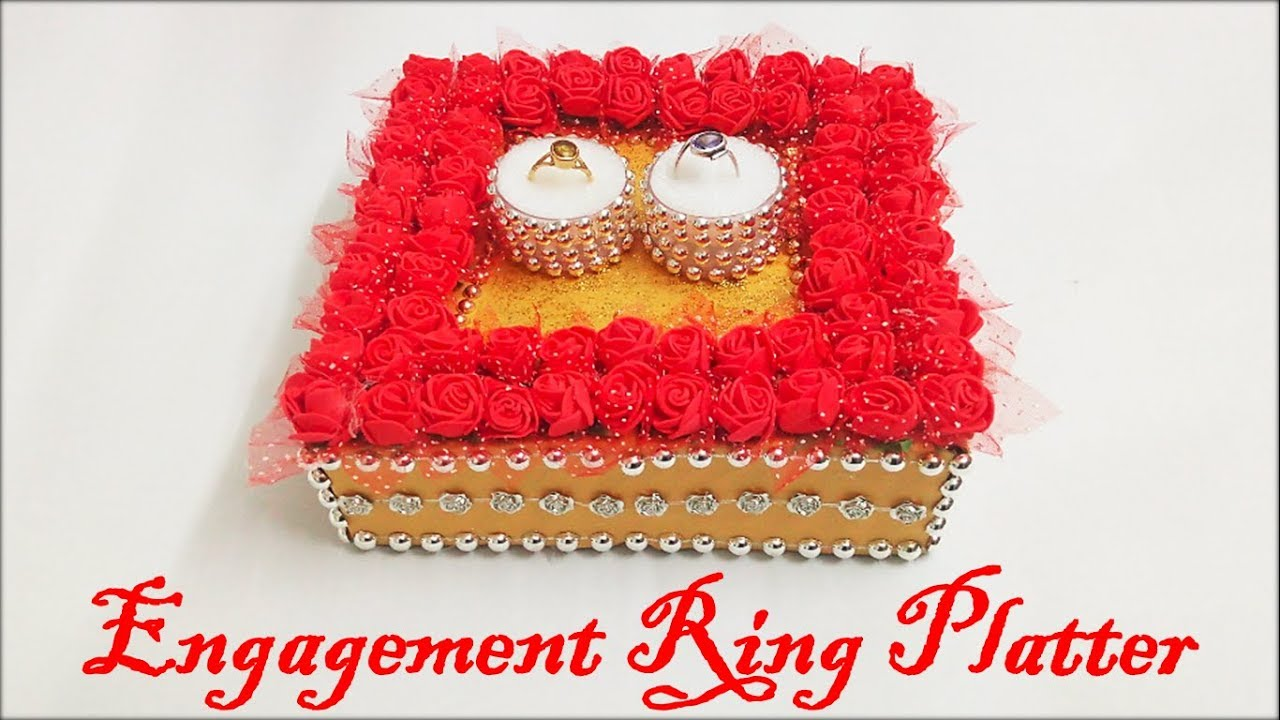 Diy How To Make Decorative Engagement Ring Tray Step By Step