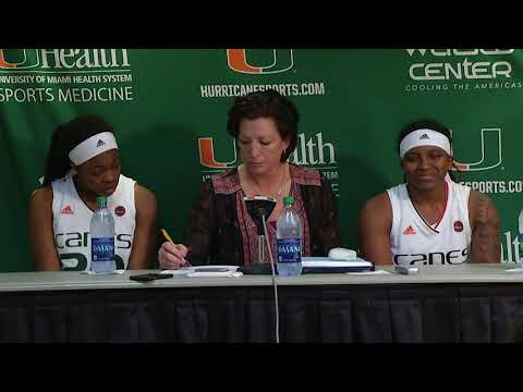 Katie Meier, Mykea Gray and Kelsey Marshall   Post Game Presser vs. Maryland   11.26.2017