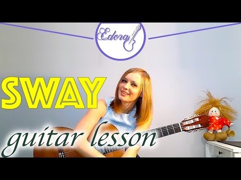How to play Sway by Dean Martin on guitar (beginners)