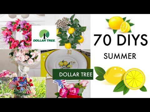 🍋70 DIY DOLLAR TREE  DECOR CRAFTS  🍋 SUMMER 2019 Olivia's Romantic Home DIY