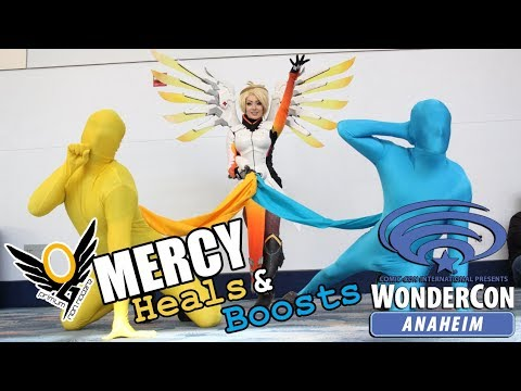 Overwatch - Mercy Heals & Boosts WonderCon 2018 - With Kate Sarkissian