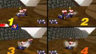 Mario Kart 64 GameShark Codes Pt.1