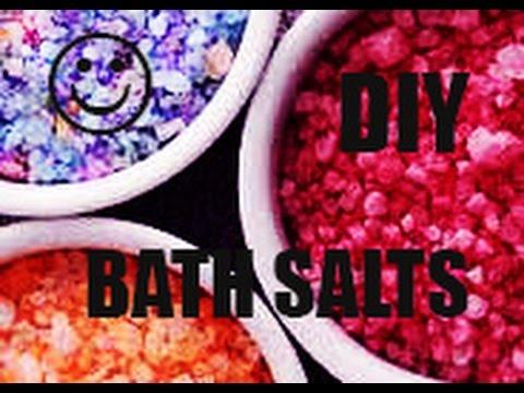 "DIY: How to make ""COLORED BATH SALTS"""