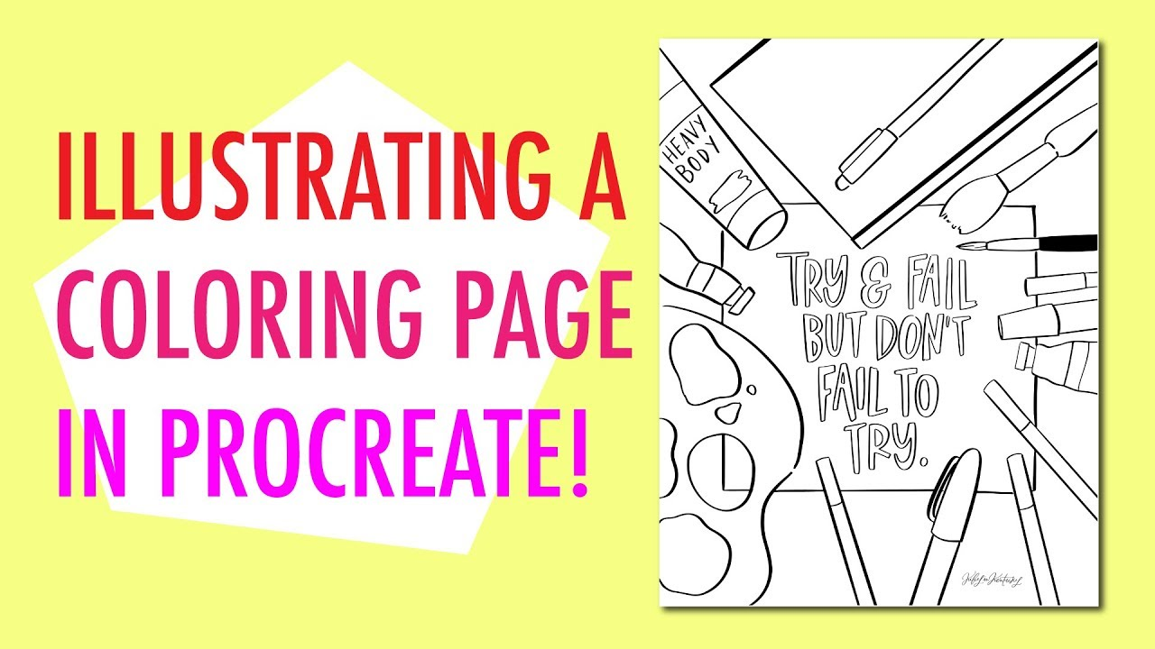 Make a Coloring Page in Procreate (Easy)