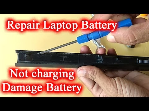 Repair Laptop Damage Battery  or Not Charging Battery (Easy Way)