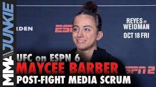 UFC Boston: Maycee Barber full post-fight media scrum Video