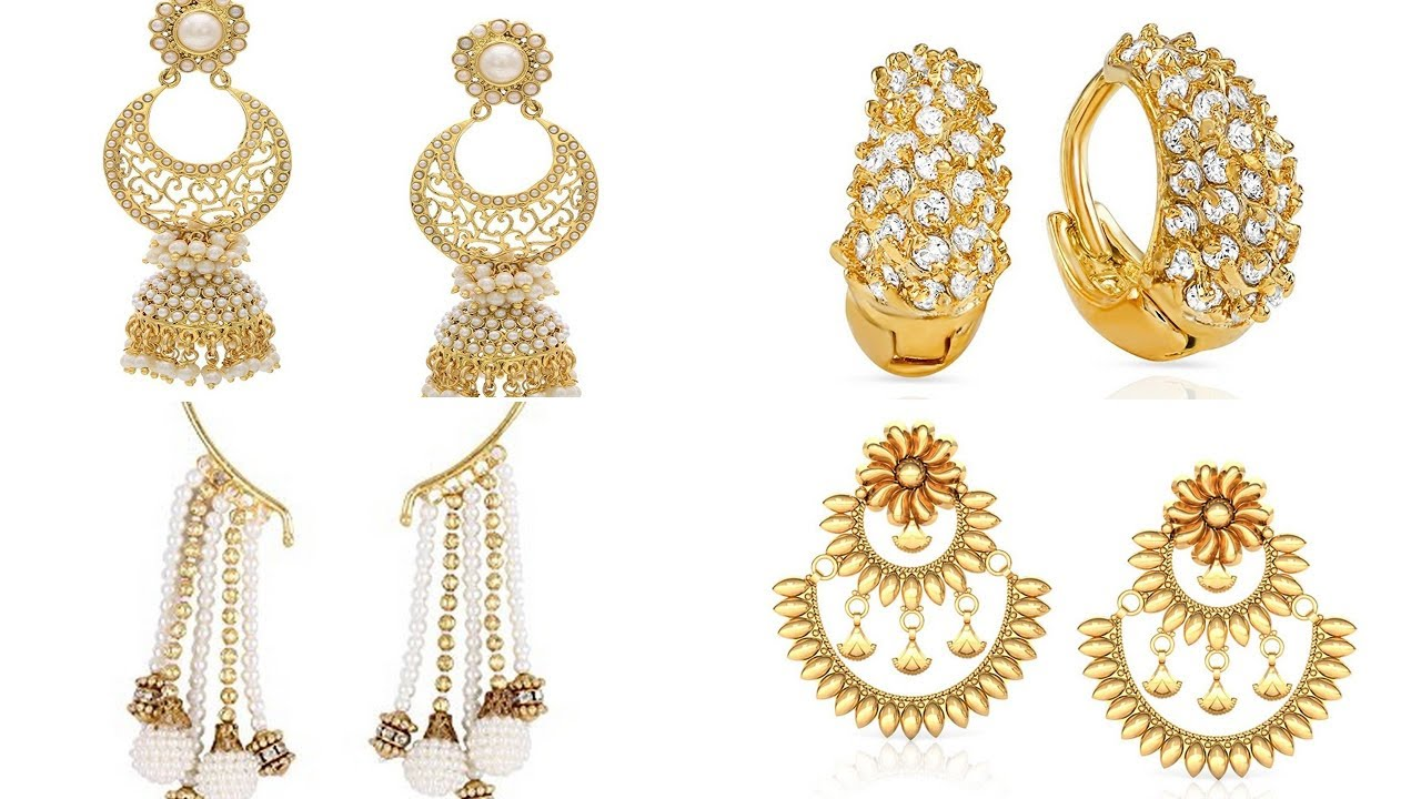 Gold Earrings Designs Catalogue 2018 Images Special Collection
