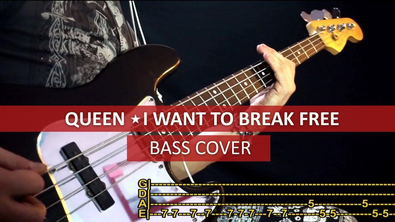 i want to break free bass tab