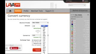 Convert currency with LavaPay(BTC, LTC, USD, EUR, GBP, RUB and etc)