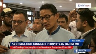 Hati Sandiaga Langsung Bergetar Mendengar Pernyataan Ketua MK - JPNN.COM