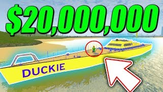 SPENDING 20 MILLION on SUPER YACHT in VEHICLE SIMULATOR! (Roblox)