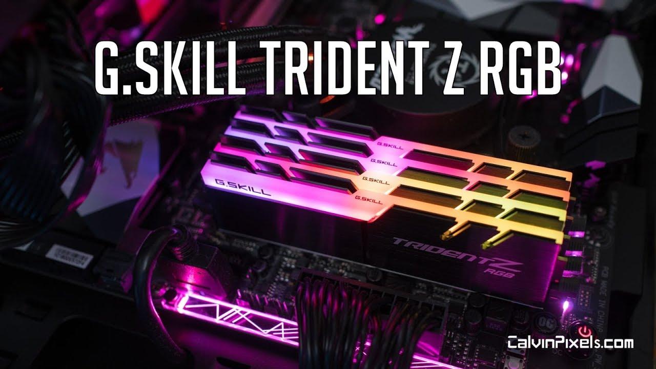 G skill Trident Z RGB Review | 3200Mhz RAM for Ryzen 7  (1700X/1800x/2700X/2800X)