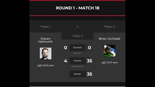 2020 Scottish Open   R1   Steven Hallworth vs Brian Ochoiski.